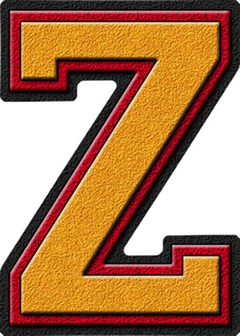 College With Letter Z Presentation Alphabets Gold Cardinal Varsity Letter Z