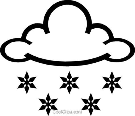 clipart neve flocos de neve e nuvens livre de direitos vetores clip