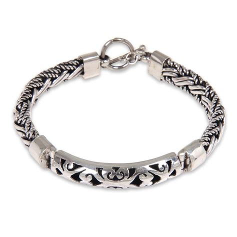 Handmade Silver Bracelets - s bracelet sterling silver handcrafted 925 telaga