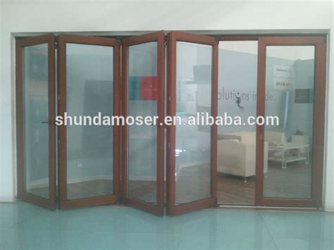 Soundproof Glass Door High Quality Solid Wood Soundproof Glazed Folding
