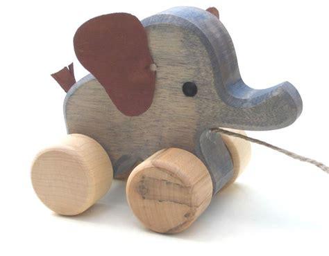 Handmade Wooden Toys Uk - toypost pull along toys elephant handmade