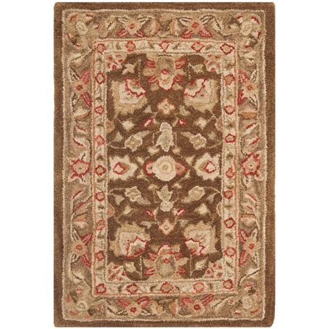 Brown And Green Area Rug Safavieh Anatolia Brown Green 2 Ft X 3 Ft Area Rug An512f 2 The Home Depot