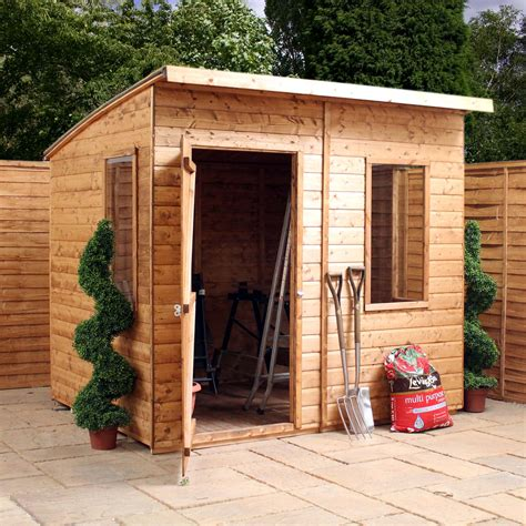 Curved Roof Shed by Shedswarehouse Oxford Workshops 8ft X 6ft Tongue