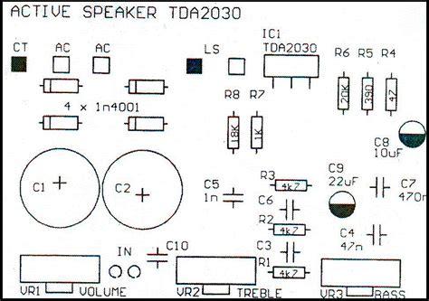 Rangkaian Speaker Aktif Mini speaker aktif tda2030 heriyawan s weblog