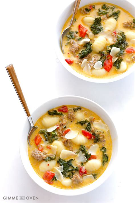 Oven Zuppa Soup 7 ingredient easy zuppa toscana gnocchi soup with kale and sausage gimme some oven