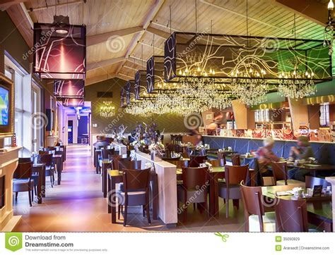 Restaurant With Stylish Decoration Stock Image   Image of