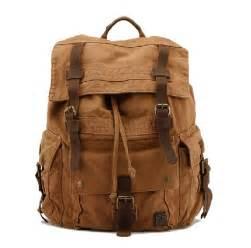 Cowhide Leather Backpack Canvas Backpacks Outdoor Backpack Unusualbag