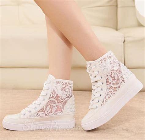exquisite flower cut outs lace up canvas shoes shoespie