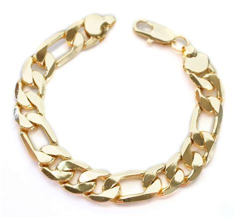 cadenas de oro florentino para hombre pulseras elegantes de oro