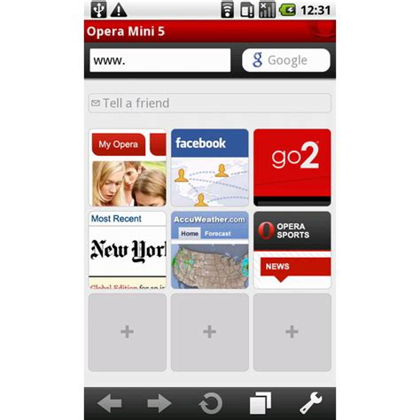 opera mini android android market welcomes opera mini 5 1 unwired view