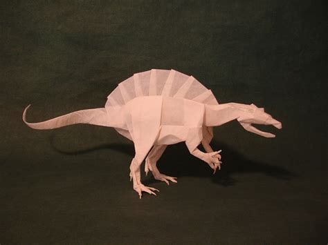 origami spinosaurus spinosaurus kamiya flickr photo