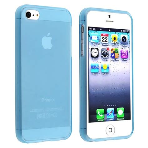 10x tpu for apple iphone 5 clear light blue s ebay
