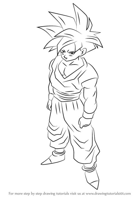 Z Drawing Images by Learn How To Draw Gohan From Z