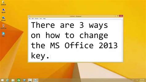 How To Ms Office How To Change Microsoft Office 2013 Product Key