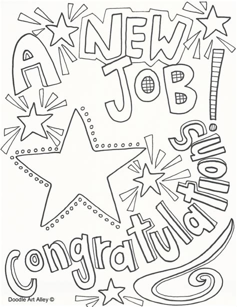coloring pages good job new job coloring pages doodle art alley