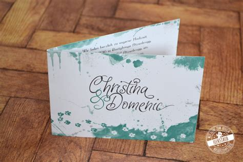 Hochzeitseinladung Wasserfarbe by Hochzeitseinladung Individuelle Hochzeitspapeterie