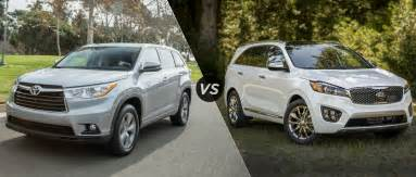 Toyota Highlander Vs 2016 Toyota Highlander Vs 2016 Kia Sorento
