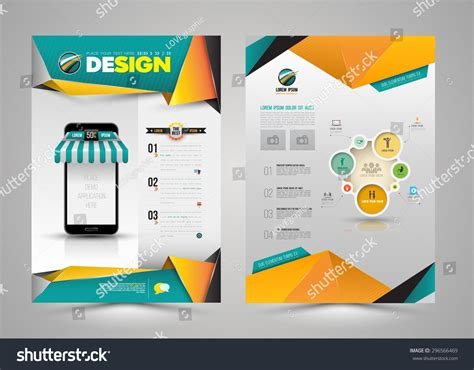 design a st template vector design page template modern style stock vector
