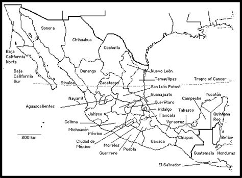 map of mexico printable printable map of mexico states