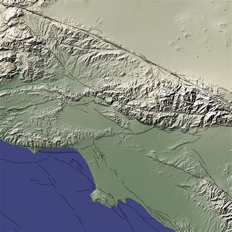 map of los angeles basin chino earthquake image of the day
