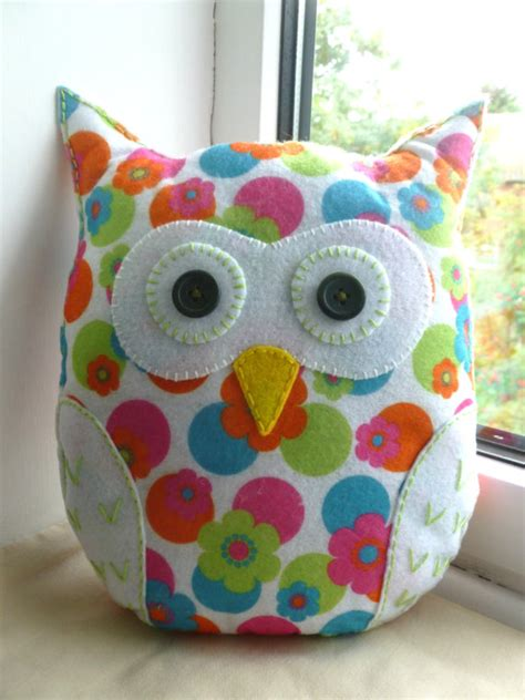 Handmade Felt Pillows - handmade felt owl pillow lavender scented lavender