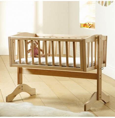 swinging crib with mattress saplings natural wood bethany swinging crib mattress ebay