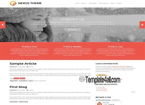 bootstrap templates for drupal 7 light free responsive bootstrap drupal 7 theme