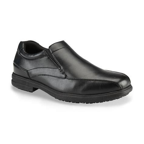 slip resistant loafers nunn bush s sanford slip resistant loafer black wide