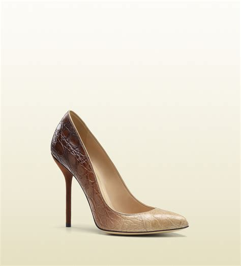 high heel pumps images gucci noah high heel stiletto in beige lyst