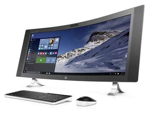 New Premium Gluta All In One hp s new all in one pc is curved and ultra wide the verge