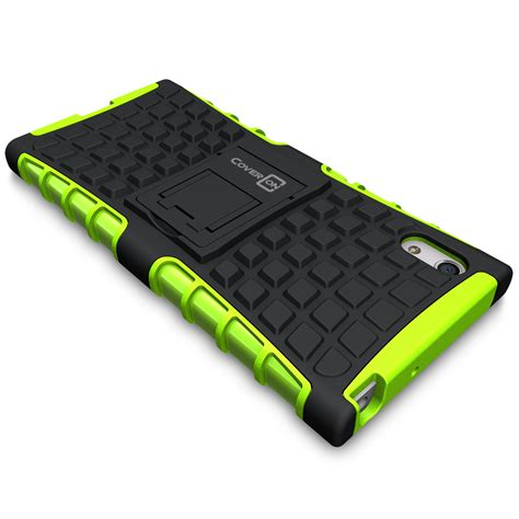 Armor Kickstand Xperia Z3 Casing Hardcase Back Cover Rugged Tough Sony for sony xperia xa1 protective kickstand armor dual layer phone cover ebay