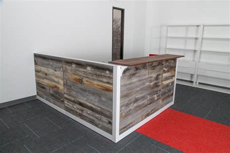 Reclaimed Wood Reception Desk Used Office Reception Area Reclaimed Wood Reception Desk At Furniture Finders
