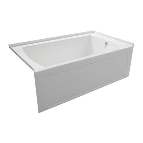 what is a skirted bathtub valley oro 66 x 30 inch skirted bathtub left hand drain the home depot canada