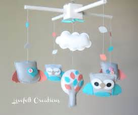 Baby Mobile Crib Baby Crib Mobile Baby Mobile Owl Mobile By Lovefeltmobiles