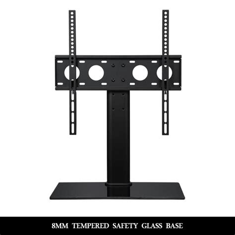 vesa mount for glass desk tv bracket stand 32 quot 55 quot table top desktop glass base led