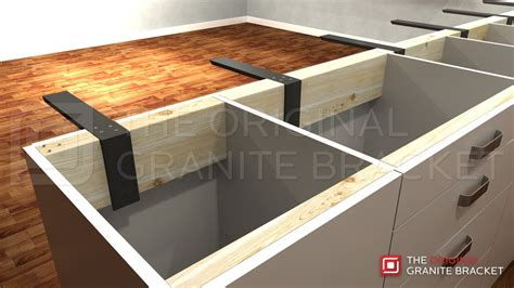 support for granite bar top your countertop can float with countertop support brackets