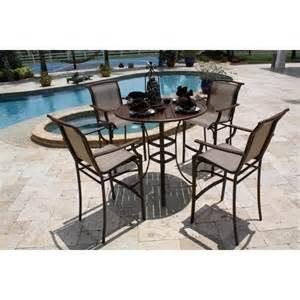 Patio Furniture Bar Set Chub Cay 5 Sling Bar Height Patio Dining F Target