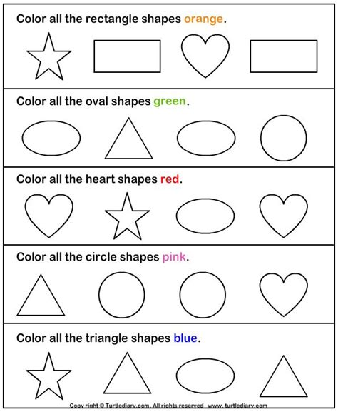 maths activity sheets for 3 year olds identify shapes worksheet1 games and activities for