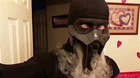 mortal kombat noob saibots mask diy youtube noob saibot cosplay smoke trick youtube