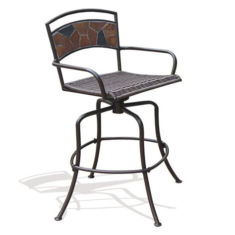 Rock Canyon Bar Height Swivel Chairs Outdoor Bar Stools Outdoor Bar Height Swivel Chairs