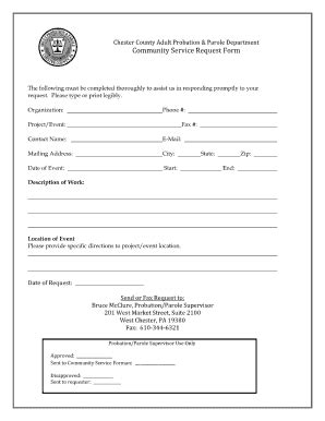 community service paper print out for court fill online