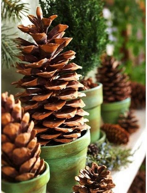 eco xmas styling 25 diy ideas with pine and fir cones home interior design kitchen and bathroom