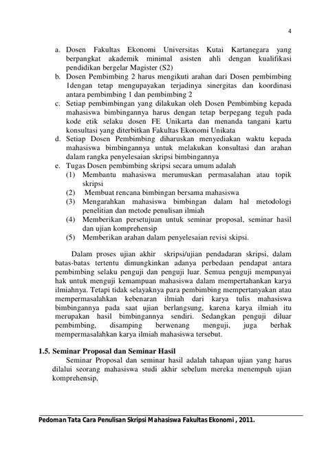 format konsultasi skripsi pedoman penulisan skripsi fekon unikarta