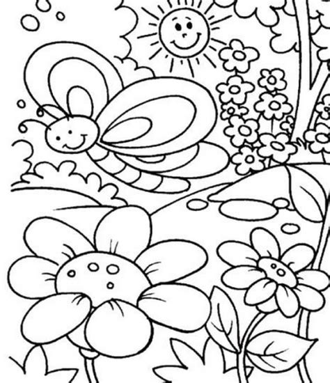 free coloring pages for preschoolers spring coloring activities for kindergarten spring pages free