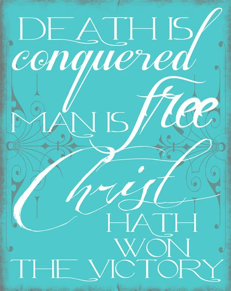 Free Printable Easter Quotes | capital b easter printable death is conquered