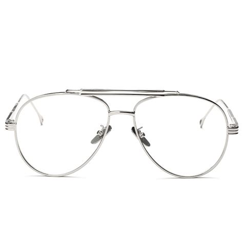 Metal Aviator Glasses high quality clear lens glasses brand designer