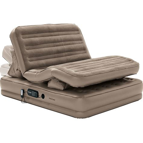 insta bed raised air mattress insta bed raised insta flex queen airbed walmart com