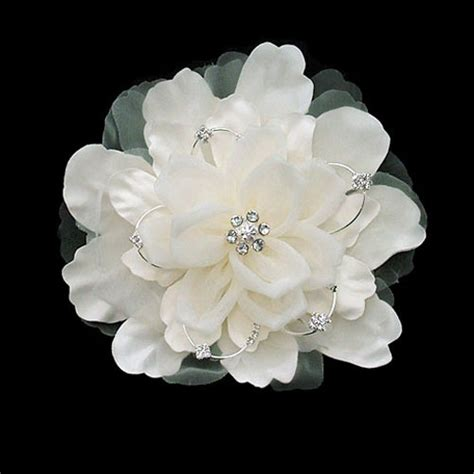 hair flower clip bridal wedding flower girl tulle silk satin organza wedding hair flower clip ivory zaphira