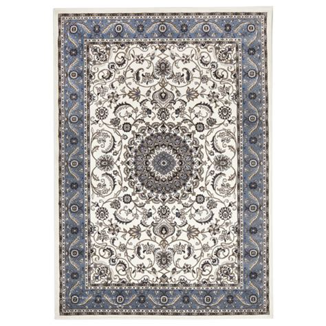blue border rug network rugs new classic rug white with blue border ebay