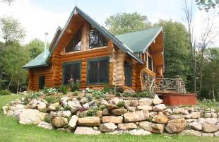 Log Cabin House by Custom 2800 Square Foot Log Home American Dream